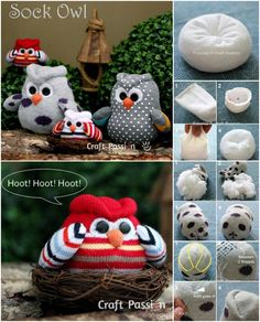 How To Make Sock Owls DIY