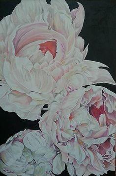 Peony II.Oil on canvas 80 x 120 cm.