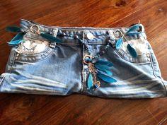 pochette jeans brut