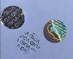 VOID bottom hologram stickers