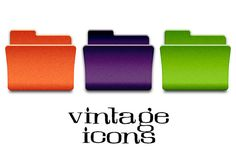 Vintage Folder Icons by Marmalade Moon on Creative Market                                                                                                                                                                                 Más