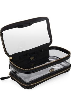 Anya Hindmarch In Flight patent leather-trimmed travel case NET-A-PORTER.COM