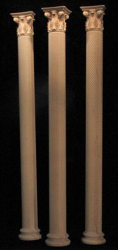 Wood Carved Acanthus Leaf - Column