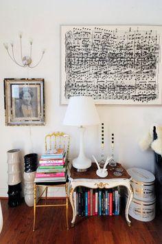 Sheet music as wall art