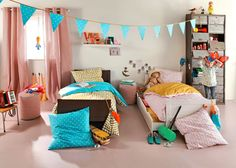 kids room - http://www.maison.com/decoration/textile/nouvelle-collection-textile-3-suisses-5220/galerie/17225/