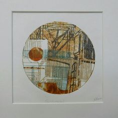 Fundamental by Sally Hirst Collage of hand printed papers Collagraph, Cyanotype, Hirst Arts, Japanese Paper, Abstract Images, Textured Background, That Way, Sally, Printmaking