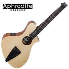 Corona Aphrodite Headless Acoustic Guitar APS-100HSEQ OP Unique Design Travel #Corona