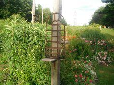 Vintage Rusty Metal Planter Trellis Garden Decor by SalvageDreams Beautiful Gardens, Garden Decor, Planter Trellis, Planters, Diy Garden, Metal Planters, Garden Design, Garden, Diy Garden Trellis