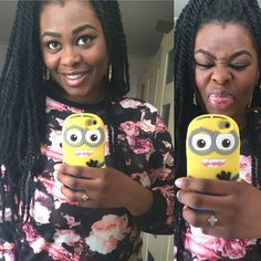 Cute 2 eyed minion case available on www.pinkship.bigcartel.com