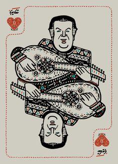 my own people playing cards. Diseñador egipcio Waell Azzam
