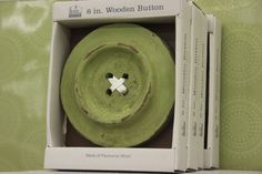Green Decorative Wooden Button (available only in stores) Click image to see weekly ad