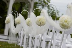 outdoor wedding aisle kissing balls with shepherds hooks | your aisle style, House of loulou and Co, now have shepherd hooks ...