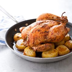 ATK Roast Chicken and Potatoes.