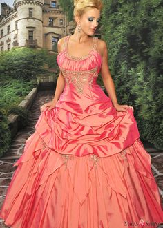 Elegant Ball Gown Spaghetti Straps Floor-length Sweet 16/Quinceanera Dresses