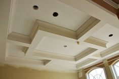 How To Build: Coffered Ceilings and Wall Paneling Part 1 - Wallmark Custom Homes - Vancouver, Burnaby & North Shore Custom Built Homes, Custom Home Builders, Ceiling Trim, Plafond Design, Model House Plan, Ceiling Treatments, Vancouver, Bedroom Ceiling, Front Rooms