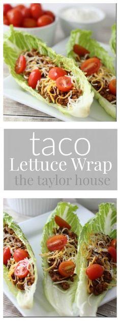 Keto Diet Recipes: Taco Lettuce Wrap Recipe - The Taylor House Atkins Recipes, Low Carb Recipes, Cooking Recipes, Healthy Recipes, Delicious Recipes, Atkins Meals, Atkins Diet Recipes Phase 1, Snack Recipes, Ham Recipes