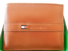 Tommy Hilfiger Range Tan Leather Passcase Credit Card Billfold Mens Wallet   #TommyHilfiger #Billfold