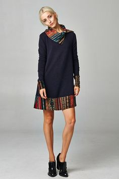 Taylor Tunic Mria Dress in Warm Charcoal