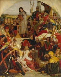 Ford Madox Brown - Chaucer at the Court of Edward III, 1856/68. 123,2 x 99,1 cm. Tate Britain. Ford Madox Brown (1821–1893).