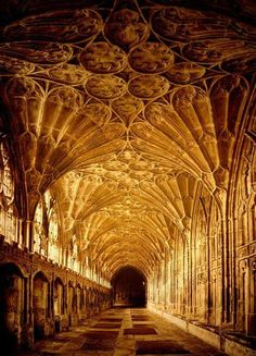 Gloucester Cathedral, or the Cathedral Church of St Peter and the Holy and Indivisible Trinity, in Gloucester, England, stands in the north of the city near the river. Architectural styles: Romanesque architecture, Gothic architecture Burials: Edward II of England, Robert Curthose