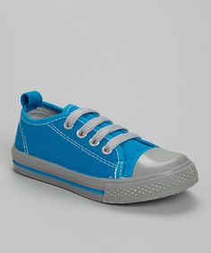 Take a look at the Shoe Shox Turquoise & Gray Sneaker on #zulily today!