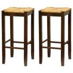 Winsome Wood 29-in. Rush Seat Bar Stool - Walnut - Set of 2 - The Winsome Wood 29-in. Rush Seat Bar Stool - Walnut - Set of 2, adds comfort and style to your home bar, kitchen, or dining area. Ideal for classic...