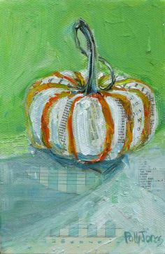 Hey, I found this really awesome Etsy listing at http://www.etsy.com/listing/163616571/early-pumpkin-original-mixed-media