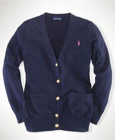 Always need a cardigan. Ralph Lauren Kids Sweater, Little Girls Boyfriend Cardigans - Kids Girls 2-6X - Macy's $49.50 #MacysBTS