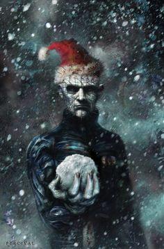 (a tweak to my Hellraiser cover art) Pinhead Xmas Black Christmas, Merry Christmas, Halloween Christmas, Christmas Time, Viking Christmas, Christmas Stuff, Christmas Presents, Halloween Party, Christmas Decor
