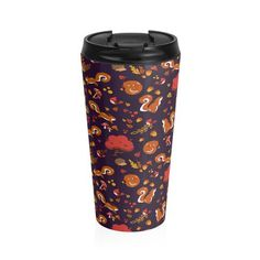 Squirrel forest Stainless Steel Travel Mug