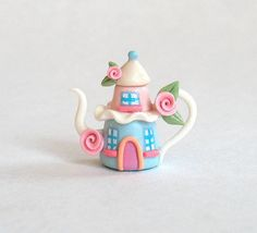 Miniature Whimsy Two Story Whimsy House Teapot  by ArtisticSpirit