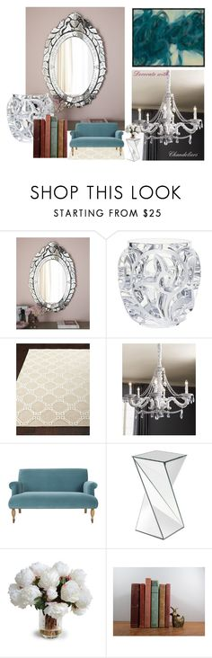 """home relax#1"" by style-iris ❤ liked on Polyvore featuring interior, interiors, interior design, home, home decor, interior decorating, Lalique, OKA, Howard Elliott and New Growth Designs"