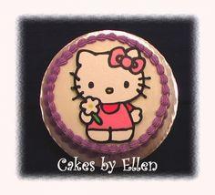 Hello Kitty cake By CakesByEllen on CakeCentral.com - buttercream transfer
