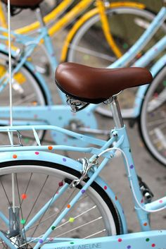 Put this on the wishlist! I would LOVE to have a polka dotted bike. Bobbin Bicycles  Adeline Adeline x Topshop New York
