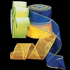 Sheer Yellow and Orange Summer Checked Edge Wired Craft Ribbon 25 x 40 Yards ** Be sure to check out this awesome product.