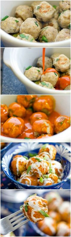 Slow Cooker Buffalo Chicken Meatballs ~ As soon as you see these meatballs you will want to make them, even if there isn�t any party is going to be thrown at your house.