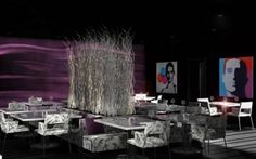 restaurant design purple cafe2 7 Incredible Modern Interior Design Ideas For Restaurants by Pinky and the Brain