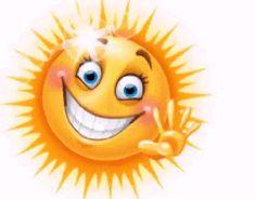 Goooooood morning my beautiful ray of sunshine. Animated Smiley Faces, Funny Emoji Faces, Animated Emoticons, Emoticon Faces, Funny Emoticons, Smileys, Smiley Emoji, Sun Emoji, Funny Smiley