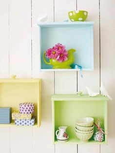 Painted dresser drawer shelves DIY Storage Solutions for Your Everyday Clutter