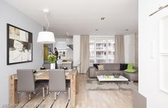 Salon z kuchnią: postaw na minimalizm. Zobacz zdjęcia - Urzadzamy.pl