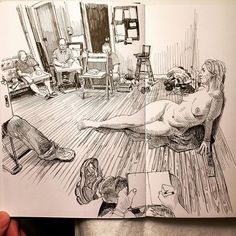Life drawing with Ryann at lawrenceja12 studio Sunday afternoon.