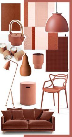 Home Decorators Collection Flooring Terracota, Interior Paint Colors, Interior Design, Hotel Interiors, Home Accents, Pantone, House Colors, Colorful Interiors, Color Inspiration