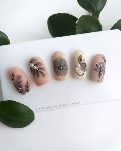 34 Amazing Nail Art Designs Ideas For You - Page 26 of 30 - Nail Art & Nail Desi. Matte Gel Nails, Cute Acrylic Nails, 3d Nails, Gel Nail Art, Cute Nails, 3d Nail Designs, Water Color Nails, Finger Nail Art, Nail Decorations