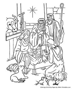 Nativity Coloring Page Free Christmas Recipes Pages 2015 Mouse NA