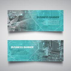 多角形のビジネスバナー 無料ベクター