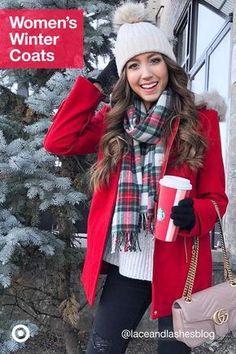 Stay warm with stylish women's winter coats. Choose from quilted jackets, pea coats, faux fur or parkas. Casual Fall Outfits, Fall Winter Outfits, Autumn Winter Fashion, Cute Outfits, Red Winter Coat, Winter Coats Women, Coats For Women, Outfit Invierno, Winter Mode