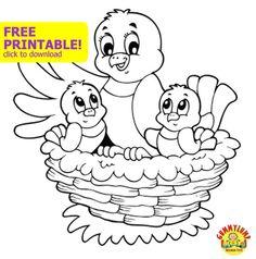 free kids printable coloring page for spring springgummylump - Kids Printables