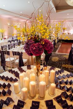 Emily & Ryan's Fairmont Wedding had a beautiful spring style and theme with a huge focus on yellow and purple. Girls Dream, Happily Ever After, Special Day, Wedding Reception, Amanda, Events, Weddings, Table Decorations, Marriage Reception