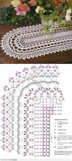 Crochet Table Runner, Crochet Tablecloth, Crochet Doilies, Doily Patterns, Crochet Patterns, Crochet Snowflakes, Crochet Crafts, Table Runners, Mandala