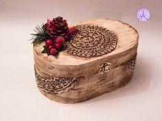 Tutorial: Scatola natalizia vintage con pizzi goffrè (christmas vintage box with lace) [eng-sub] - YouTube